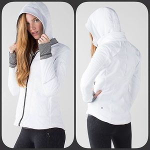 Lululemon Fleecy Keen Jacket White 10